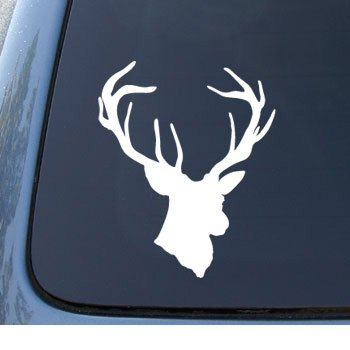 deer head heart decal - 7