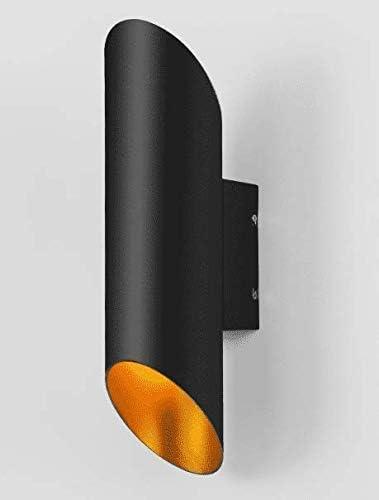 Nfudishpu Plafones Lámparas de techo Luminaria de pared Personalidad creativa Retro, Balcón Pasillo Pasillos Escaleras, Pared Industrial Viento Lámpara de pared cilíndrica recta de doble cabeza, Negro: Amazon.es: Deportes y aire libre