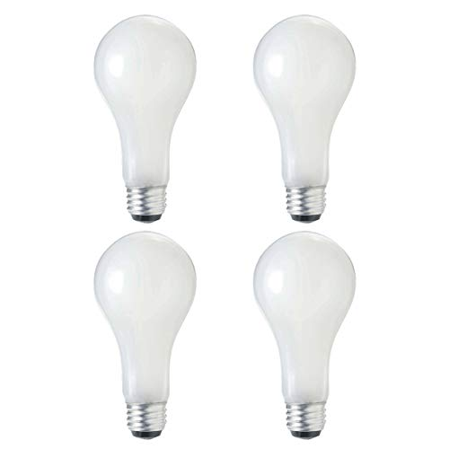 A21 Incandescent Dimmable 3 Way Light Bulb, 50W/100W/150W, (520/1230/1750 Lumens), 2700K, E26 Medium Base, 120V, (4 - Incandescent A21 Base Medium