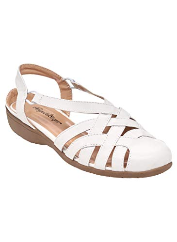- AngelSteps Women's Adult Tamyra Flats Casual Shoes 8 Medium US Women/White