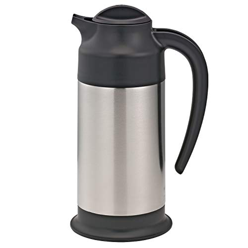 Service Ideas SSN70 SteelVac Carafe, 0.7 L (23.7 oz.), NSF, Brushed Stainless/Black