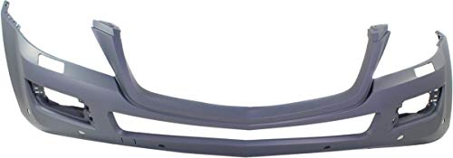 Front Bumper Cover for MERCEDES BENZ GL-CLASS 2007-2012 Primed with Headlight Washer Holes and Parktronic with Curve Lighting (2007 Mercedes Benz Gl Class Gl320 Cdi)