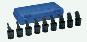 """1/2"""" Drive 9 Piece Metric Universal Hex Driver Set from Grey Pneumatic"""