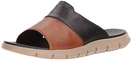 Cole Haan Men's Zerogrand Slide Sandal, DARKROAST/British TAN LTHR/Cobblestone