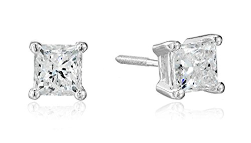 14k-White-Gold-Princess-Cut-Diamond-Screw-Back-and-Post-Stud-Earrings-1-15cttw-H-I-Color-I2-Clarity