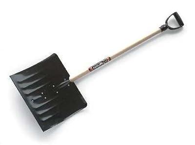 Snow Shovel, 18 In W, 14-1/2 In H, Steel