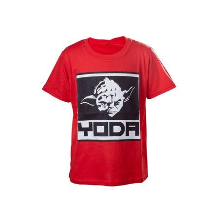 Bioworld - T-Shirt Star Wars - Red Yoda Enfant Taille 12/14 ans - 8718526068160