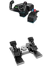 Logitech G Pro Flight Yoke System + Logitech G Pro Flight Rudder Pedals