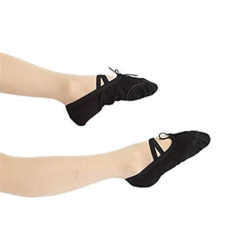 Black 8 Uk uk Yoga Taille Danse Ue Filles Chaussures noir 39 Simple 5 Pour Décoration Toile Les Luxury Adultes Ballet 6 De Classique Femmes 5 Us Hdwqx41