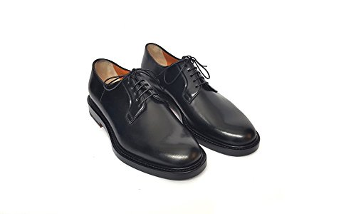 Santoni Uomini Lace Up Brogue Nero Nero Nero