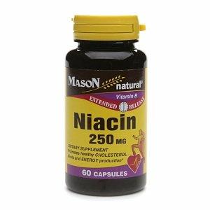 Mason Natural Niacin, 250mg, Capsules, 60 ea