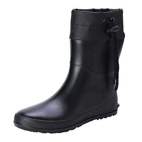 Asgard Women's Short Rain Boots Mid Calf Collar Garden Shoes Ultra Lightweight Snow Boots BK38