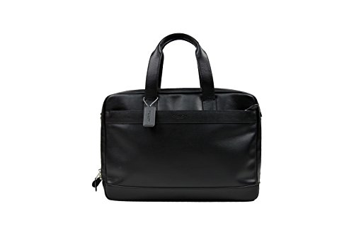 Coach New York Men's Hamilton Commuter Bag in Leather, Black, One size