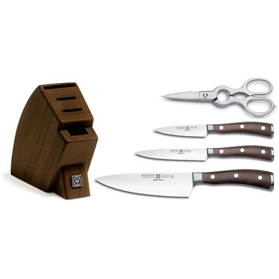 Wusthof Ikon Blackwood 5 Piece Studio Knife Block Set 5 Piece Studio