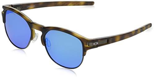Oakley Men's OO9394M Latch Key Round Sunglasses, Matte Brown Tortoise/Sapphire Iridium Polarized, 52 mm
