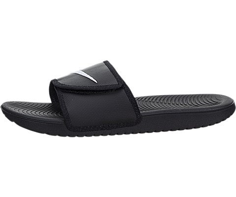 (Nike Men's Kawa Adjustable Slide Sandals (10 D(M) US, Black/White) )