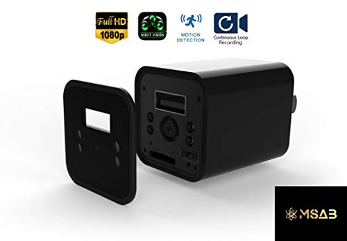 Spy Camera – Hidden Camera – USB Charger – Night Vision – Nanny Cam – No WiFi Needed – 1080 HD Camera – Motion Detection – Loop Recording