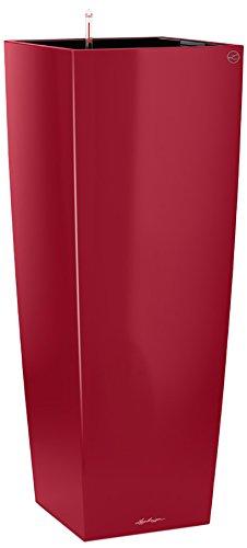 Lechuza Premium Cubico Alto 40 Centimetri Laccato Rosso Scarlatto Auto Watering 105 Centimetri Alto Planter Pot