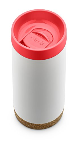 Ello Cole Vacuum-Insulated Stainless Steel Travel Mug, Coral, 16 oz