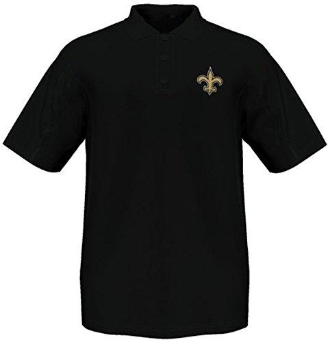 Majestic Athletic New Orleans Saints Moist Management Birdseye Mens Polo Shirt Big & Tall Sizes (XLT) -