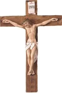 Crosses Just Divine Gifts Crucifijo Italiano de Resina para Colgar en la Pared de 20 cm