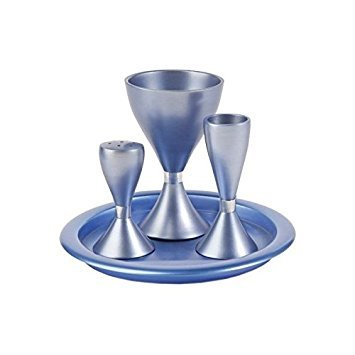 Blue Anodize Aluminum Havdalah Set