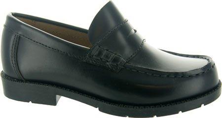 Academie Gear Boys'Josh Penny Loafers Black Leather 6W Big Kids