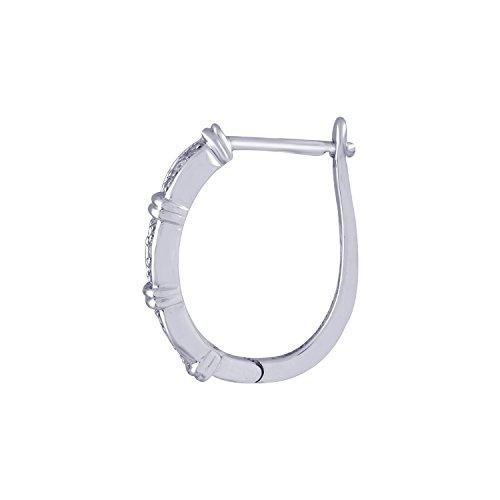 Giantti Diamant pour femme Boucles d'oreilles créoles (0.538CT, qualité HSI, Gh-colour)