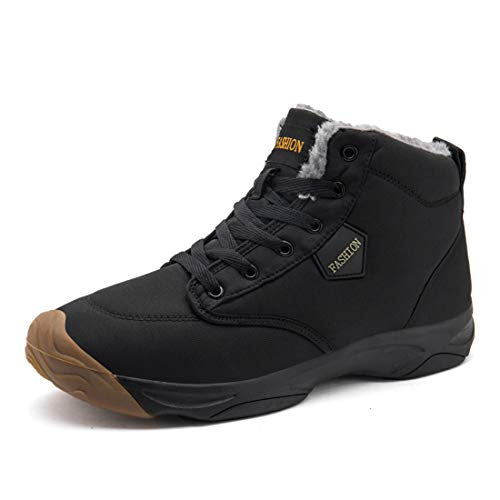 GOUPSKY Snow Boots for Men Lightweight Lace up Winter Shoes Outdoor Fur Lined ()