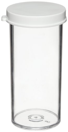 Dynalon 426364-10 Polystyrene Specimen and Sample Container with Polyethylene Snap Cap, 10 Dram Capacity (Case of 144)