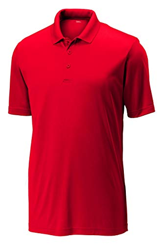 Opna Mens Dry-Fit Golf Polo Shirts,Red,X-Large