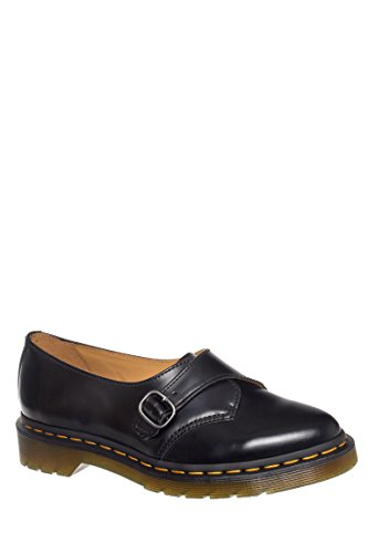Dr. Martens Women's Agnes Pointed Monk Black Polished Smooth Loafer UK 5 (US Women's 7) M