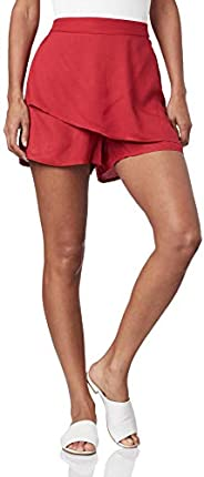 Shorts-saia de tecido, Mercatto, Feminino