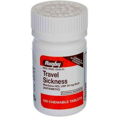Travel Sickness Chewables 25MG 100 Count per Bottle (5 Pack)