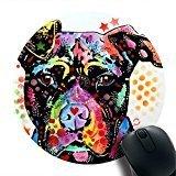 Give Love Pitbull American Bulldog Print Round Desktop Mouse Pad Gaming Rubber Mouse Pad 8