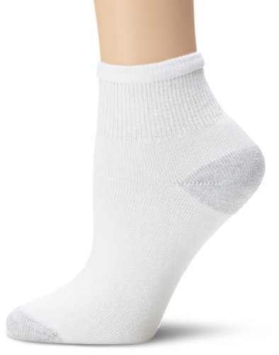 Fruit Of The Loom Women's 6 Pack Ankle Crew Socks,  White, Shoe: 4-10 (Ladies Fruit Of The Loom Socks compare prices)