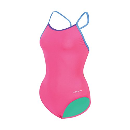 Dolfin Bellas Solids Butterfly Back One Piece Swimsuit Womens 30