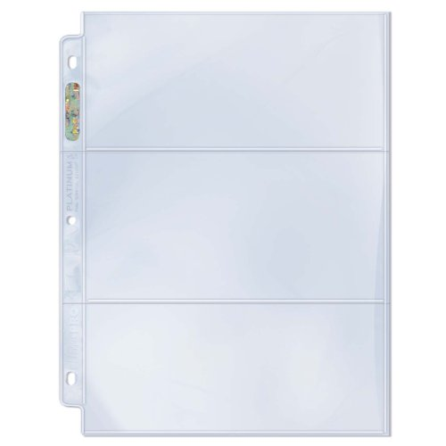 Ultra Pro 3-Pocket Platinum Page with 3-1/2