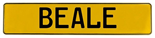 Vintage Parts 594838 Beale Yellow Stamped Aluminum Street Sign Mancave