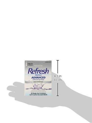 Refresh Optive avanzada lubricante gotas para los ojos, 0,01 ml cada uno, 30 Count: Amazon.es: Salud y cuidado personal