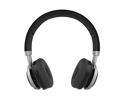 Blk Mp3 Player Accessories - GabbaGoods Over Ear Wireless Foldable DJ Headphones for All Bluetooth Enabled Devices, iPhones, Smartphones, Tablets, MP3 Players. Noise Canceling Headset with Optional Aux Cable- Black
