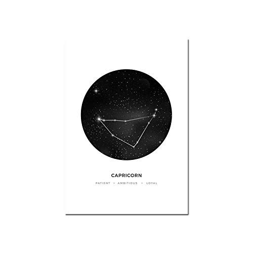Constellation Nursery Wall Art Canvas Poster Prints Astrology Sign Minimalist Geometric Painting Kids Decoration Pictures,13x18cm Unframed,Picture 12