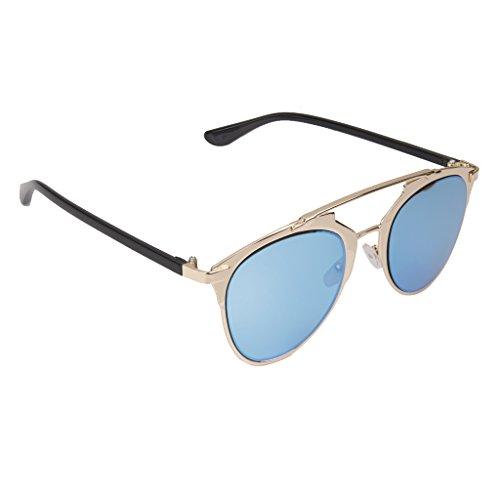 Dell'oroLente Degli Da Blu Occhiali Della Unisex Montature Retro Magideal Sole Classico 5Lc34RqAj