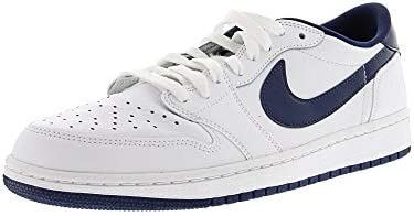 86b0b50f3c5 Amazon.com: Jordan Air 1 Retro Low OG - US 12 White/Midnight Navy: Nike:  Sports & Outdoors