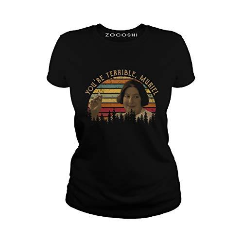 Zocoshi Women's You're Terrible, Muriel Ladies T-Shirt (XL, Black)
