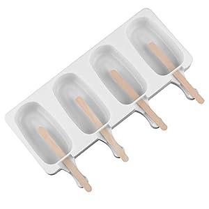 Wisilan - Stampi in gel di silice per gelato con motivo spray, per decorare vaschette del ghiaccio 4.8x9cm White-l 1 spesavip