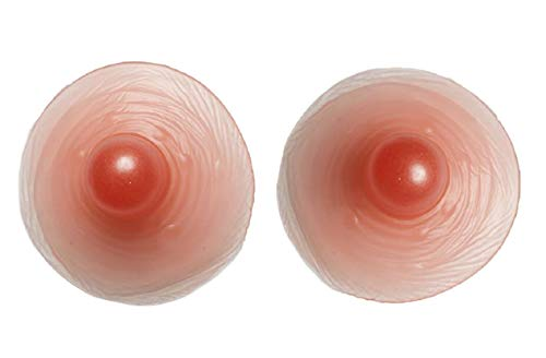 WitHelper Adhesive Silicone Nipples for Breast Form,Costumes Party,Drag Queen,CD (Large Nipples)