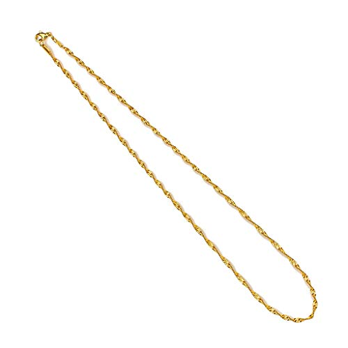 Singapore 316L Stainless Steel Chain Necklaces (Gold)
