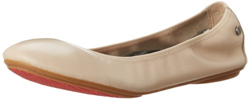 Hush Puppies Women's Chaste Ballet Flat, Nude, 8 W US