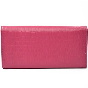 KLOUD City ® Hot Pink synthetic leather stone pattern double layer women wallet